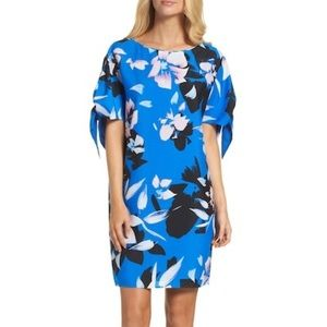 NWT Vince Camuto Cold Shoulder Tie Sleeve Dress 6